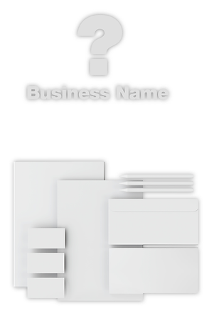 Unknown business and blank documents