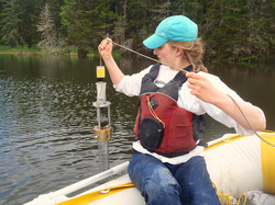 Amanda sampling a core -ALoder