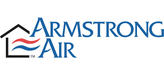 Armstrong Air Logo. Armstrong is an HVAC manufacturer that Greene's Plumbing, Heating and Electrical repairs.
