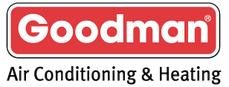 Goodman logo. Goodman Manufacturing is a HVAC builder. Greene's Plumbing, Heating and Electrical repairs their products. www.greenesplumbing.com