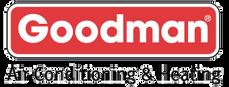 Goodman logo. Goodman Manufacturing is a HVAC builder. Greene's Plumbing, Heating and Electrical repairs their products. www.greenesplumbing.com