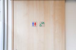 患者さま用トイレ 車椅子の患者さまもご使用いただけます