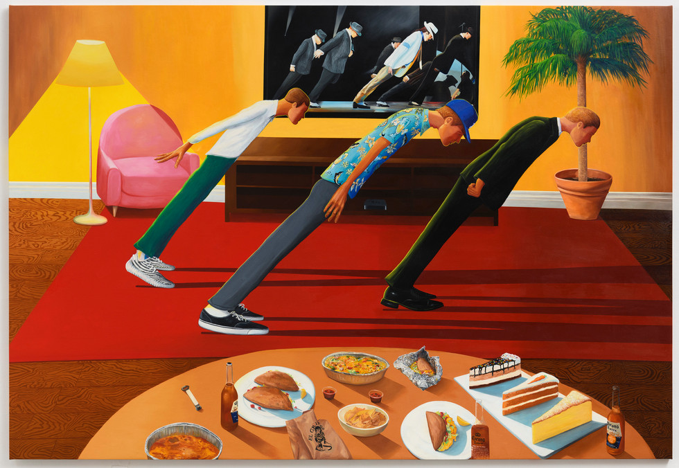 Smooth Criminals, oil on canvas, 78 x 114 inches