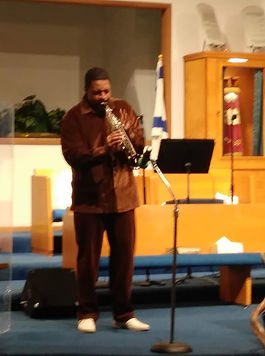 Rod Tate performing at a Church Service