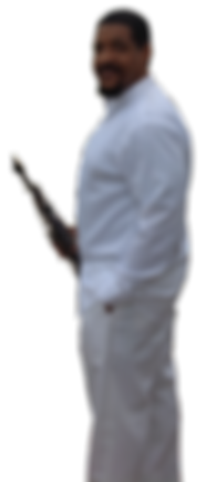Rod Tate With Sopran Sax In All White