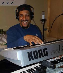 Rod in studio on keyboards