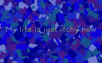 Animation made entirely in code (Processing) about having itchy eyes when trying to fall asleep. Fall 2019.