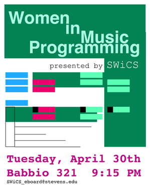 Women in Music Programming Flyer