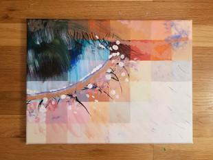 Crying Eye Acrylic Painting
