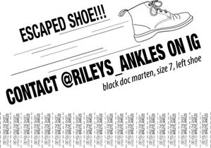 Escaped Shoe Poster 1