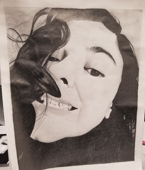 Photorealistic Graphite Self Portrait