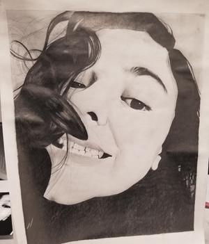 Photorealistic Graphite Self Portrait