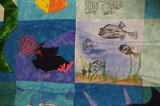 A visualization of the ocean in the form of a quilt. The culmination of my own imagination, fears, and background knowledge, plus research from a semester long focus on historical narratives of the ocean. Made as my final project for Visualizing Nature, Spring 2020.