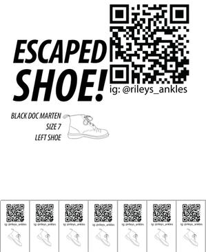 Escaped Shoe Poster 4