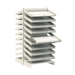 pharmacy shelving with 18 auto feed draw