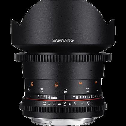 Samyang 14mm T/3.1 MF Cine Lens for Canon EF