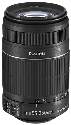 Canon 55-250mm F/4-5.6 EF-S Lens