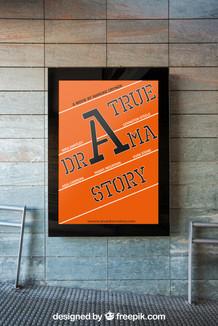 Typografische Film Poster
