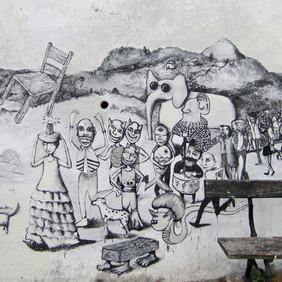 Broken Chair Procession Mural