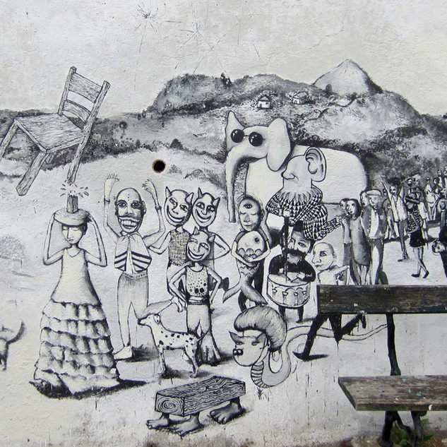Broken Chair Procession Mural
