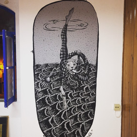 Lila's Tattoo Shop Mural