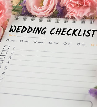word wedding checklist note paper on pin
