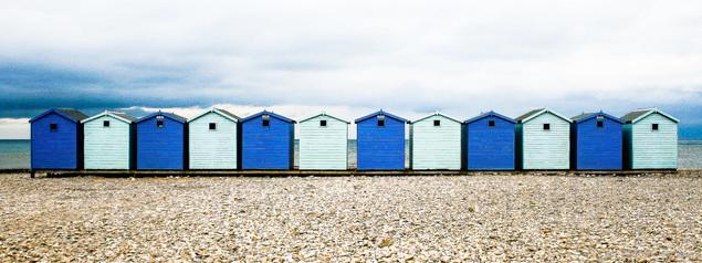 9. Beach Huts Blue