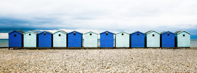 9. Beach Huts Blue