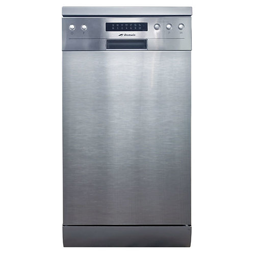 45cm Slimline 8 Place Stainless Steel Electronic Freestanding Dishwasher