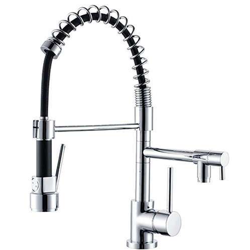 Dual Action Spring Neck Pull Out Vegie Sprayer Kitchen Mixer Tap
