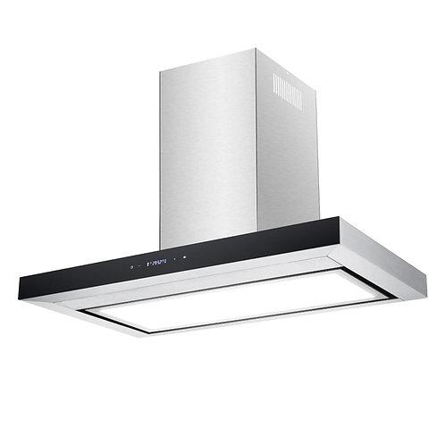 Premium Stainless Steel Flat Canopy Rangehood with LED Light Panel - 900mm