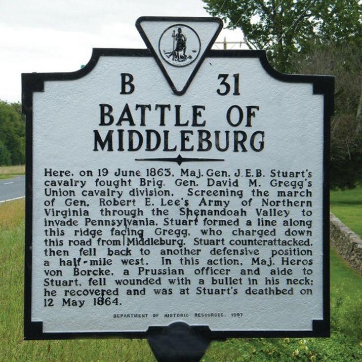 Battle of Middleburg Sign