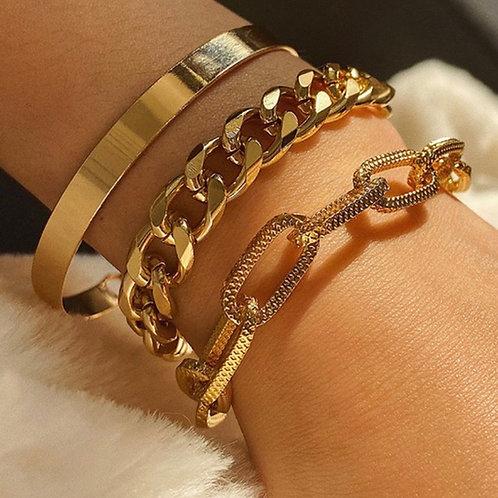 Chain Bracelet 3 piece Set