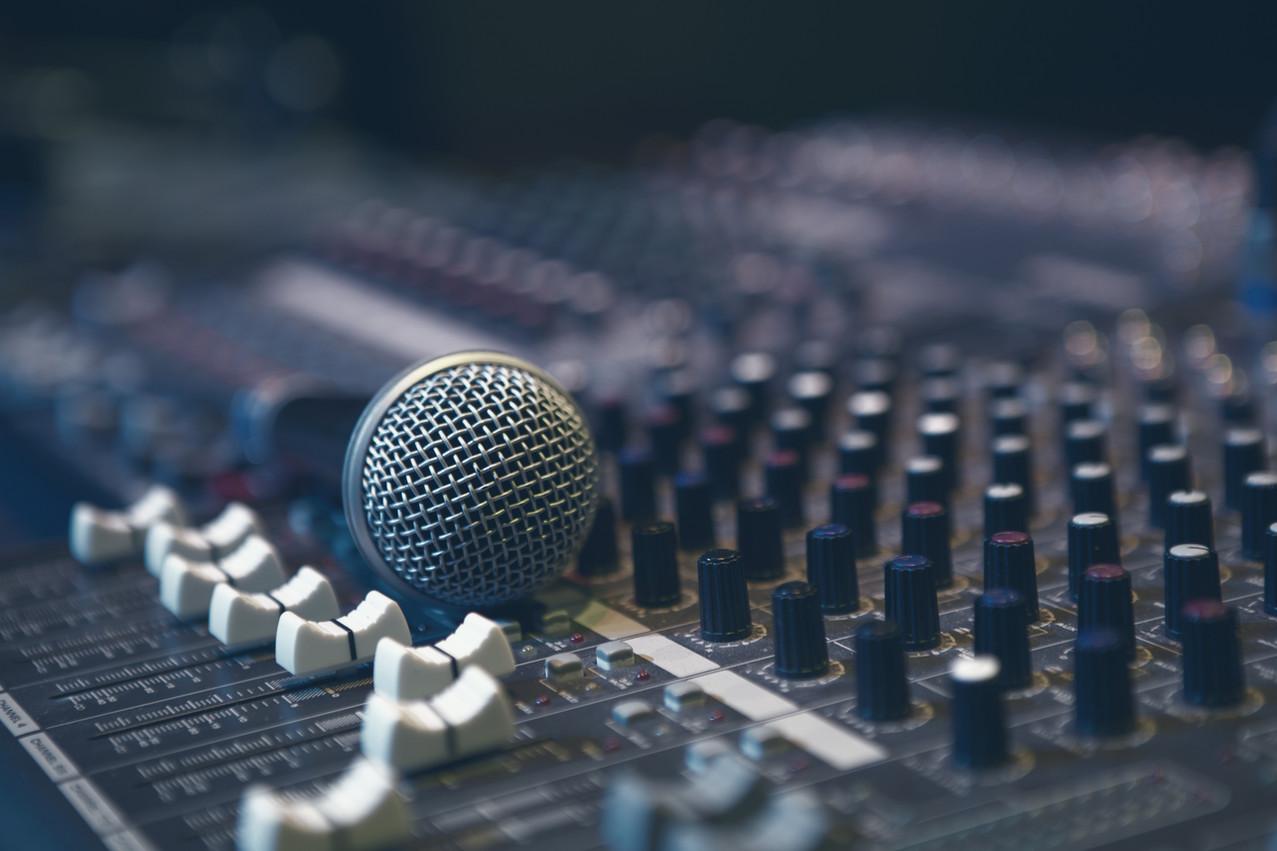 Microfone em Sound Board