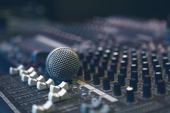 Microphone on Sound Board