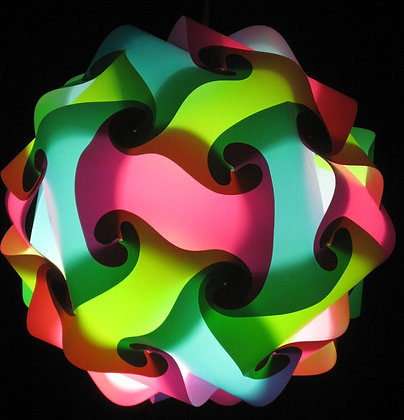 Lime Green, Pink & Teal Sphere