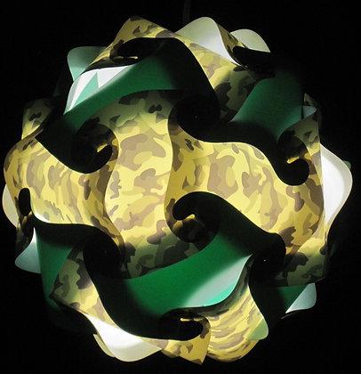 Camouflage & Dark Green Sphere