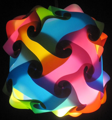 Marshmallow Confetti Lamp