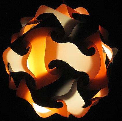 Orange, Black & White Sphere
