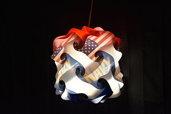 Marshmallow Navy Lamp