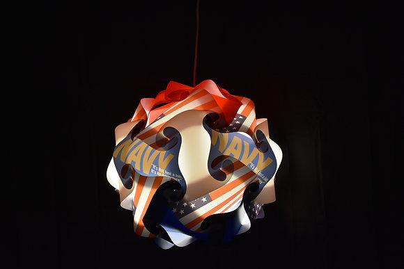 Sphere Navy Lamp