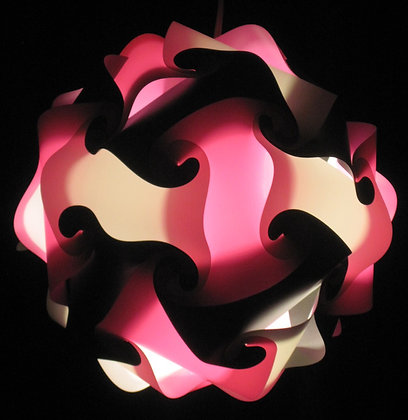 Pink, Black & White Sphere