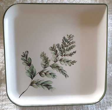 Bamboo Fern Design Plate 1