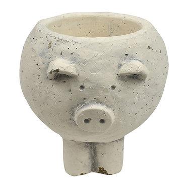 Small Concrete Pig Planter