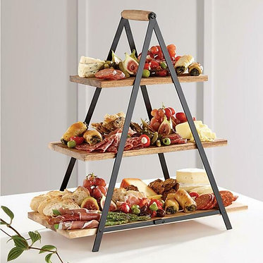 3 Tier Serving Tower ( Folds Down For Easy Storage)