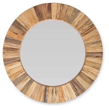 Round Timber Mirror