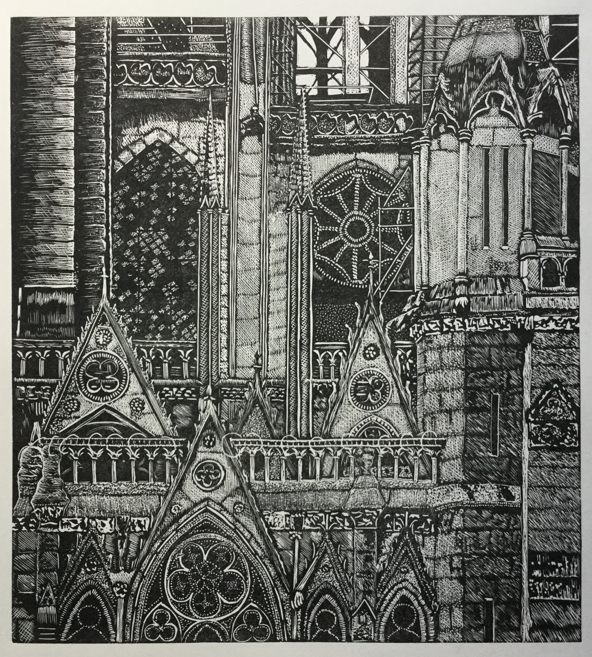 Detail of Notre Dame after the Fire 3