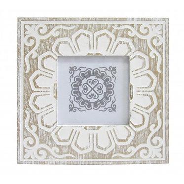 Square white wash frame