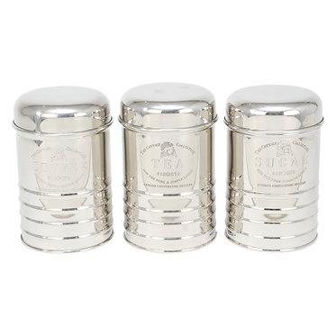 Set Of 3 Canisters TEA COFFEE SUGAR
