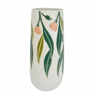 Tall Native Floral Vase